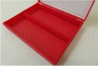 Microscope Slide Deluxe Archiving Case - Red