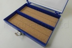 Microscope Slide Deluxe Archiving Case - Blue