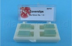 Microscope Slide Coverslips 18 x 18mm - Pack of 400